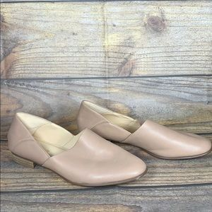 CLARKS nude neutral plus cushion insole loafers